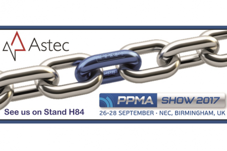 Astec exhibiting at PPMA 2017
