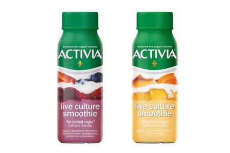 Activia launches live culture smoothies
