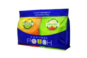 New dual-chamber stand-up pouch from Chamber Pouch