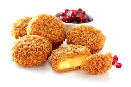 Microwaveable crumb-coated snacks with perfect crunch