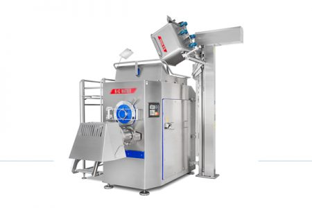 New automatic grinder processes frozen meat blocks with ease