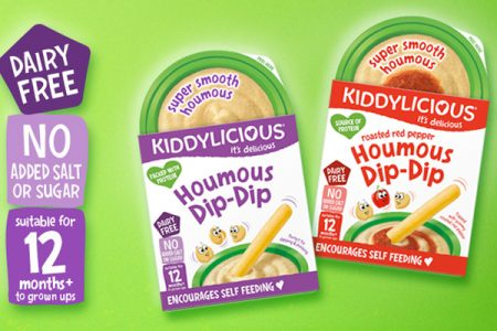 Kiddylicious launches houmous snacking pots