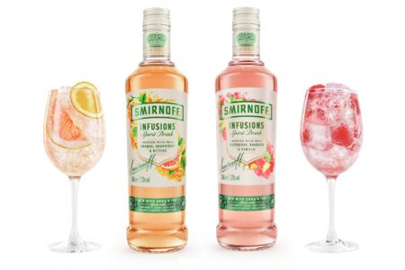 Smirnoff launches lower-alcohol vodka infusions