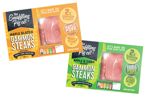 New gammon steaks from Snaffling Pig