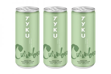 TYKU introduces cucumber infused sake in a can