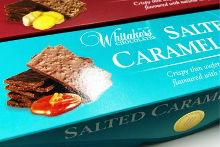 Qualvis produce bold new look for Whitakers Chocolates